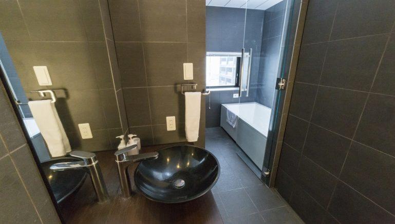 Nozomi Views Studio Bathroom Winter1