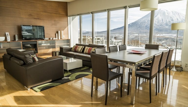 Youtei Tracks 2 Bedroom Penthouse Dining Living Winter