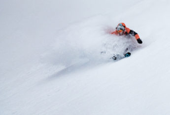 Alex Koens powder turns in the BC