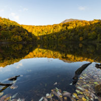 Autumn Scenery Landscapes Lake hangetsu