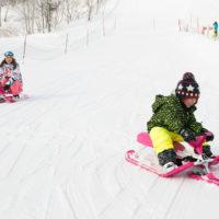 Snow racing.