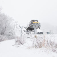 Ski lifts at Niseko Grand Hirafu on November 20th.
