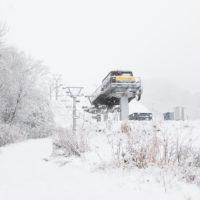 Ski lifts at Niseko Grand Hirafu on November 20th.