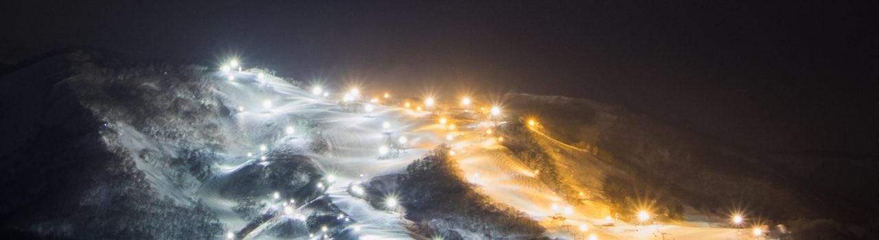 Night Ski Lights Grand Hirafu 01 24 18 3