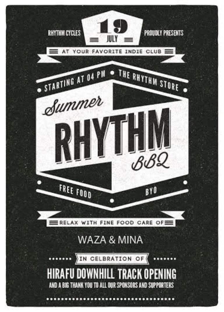 19th July Free BBQ Poster