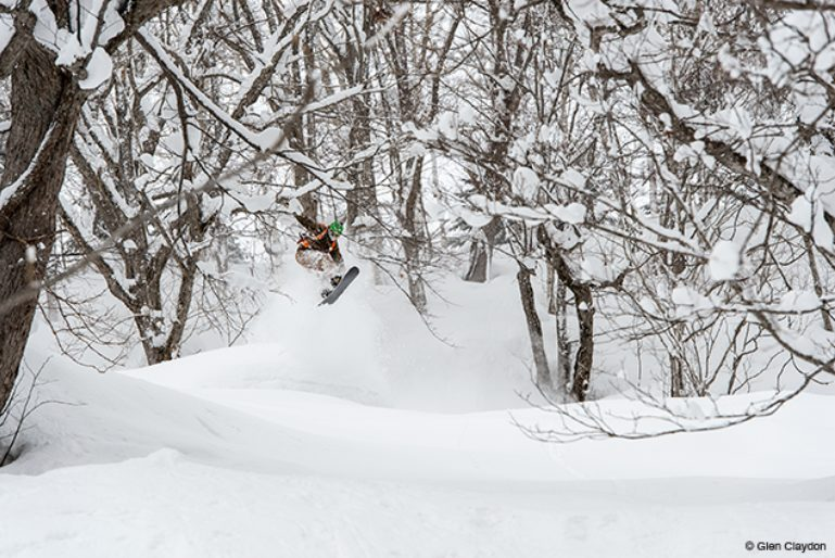 Seth Wescott riding in Niseko, Japan