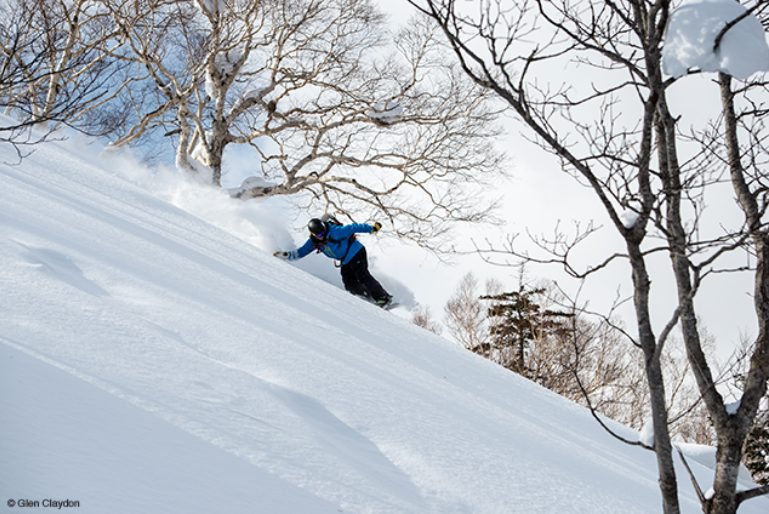 Rob Kingwill riding in Niseko, Japan