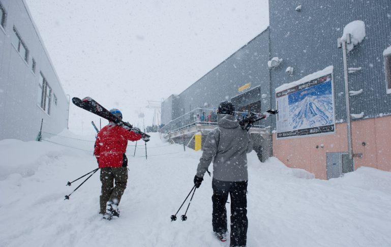 It snows a lot in Niseko