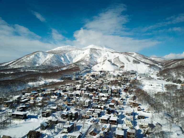 Drone Blue Skies Hirafu Village 01 11 18 6