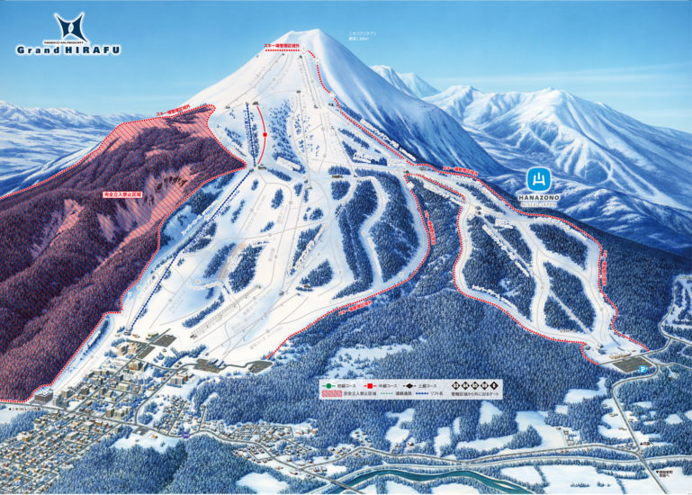 Grand Hirafu Open Map