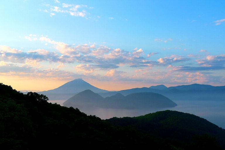 Lake Toya Usuzan Ropeway Promotional Image Summer Sunset