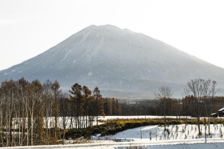 Mt Yotei with snow