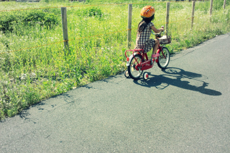 Young Girl Child Riding Bike Cycling Summer Edit