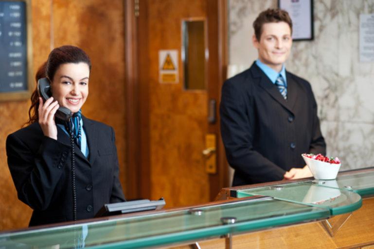 front desk service