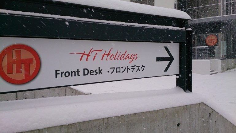 front desk snow