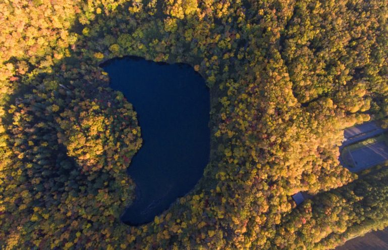 Hangetsu Lake Autumn Birdeye