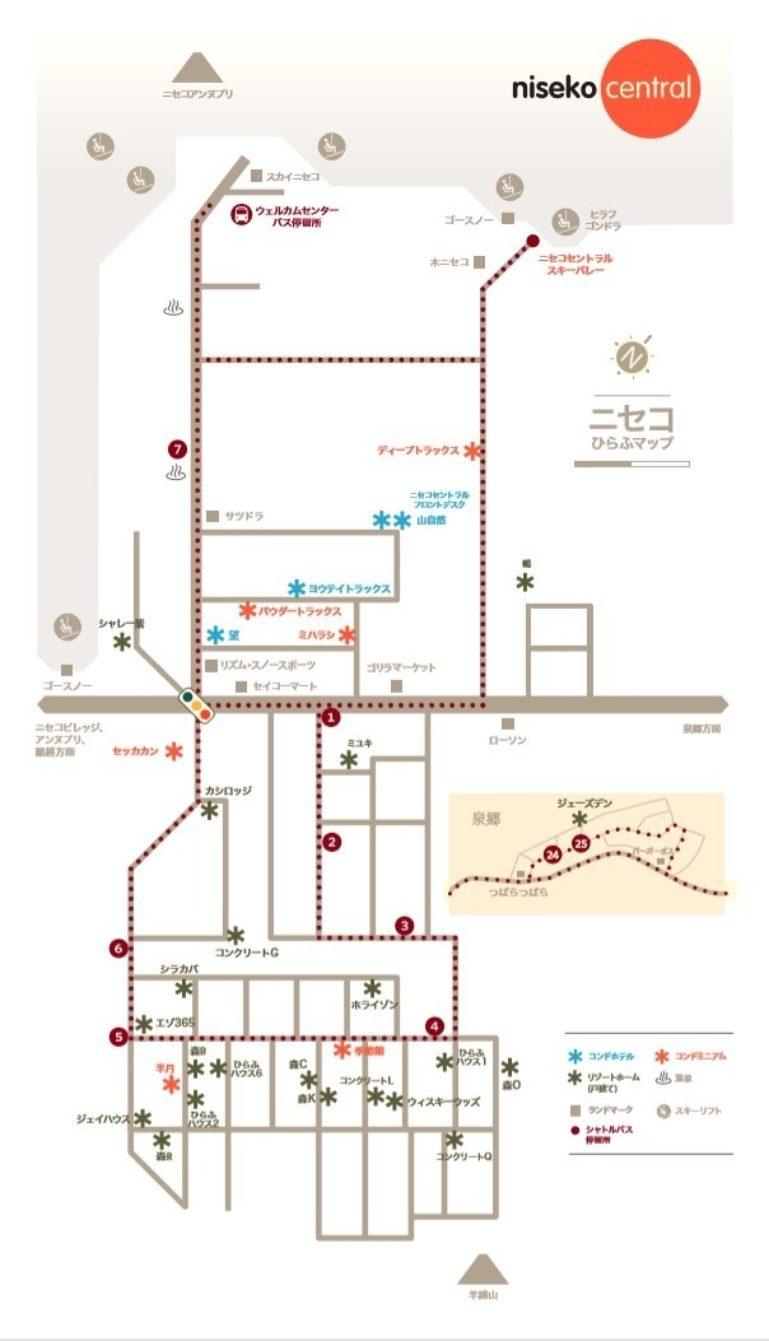 Niseko Central Properties Map Jp