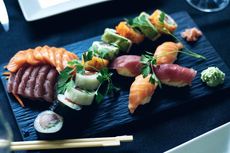 Fresh Hokkaido seafood.