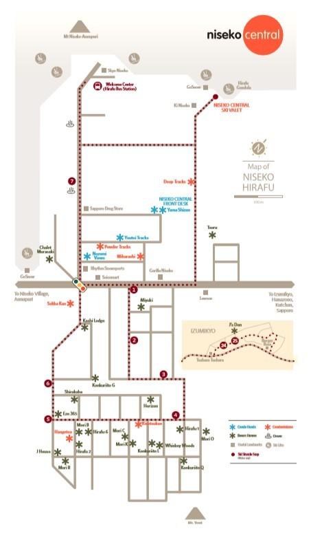 Niseko Central Properties Map En1