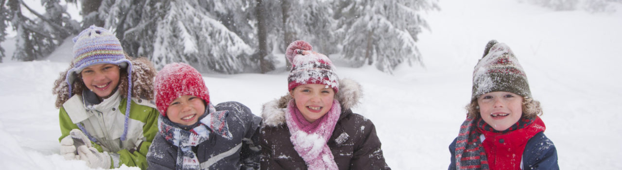 Children Playing In The Snow Bt Aa Qrbi