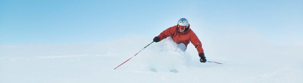 Powder Skiing Snow Winter Lightened