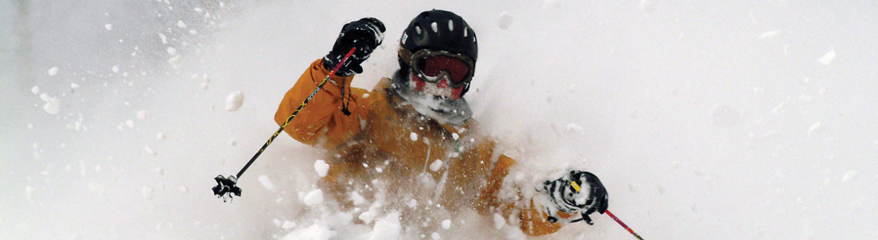 Niseko skier uses ski valet