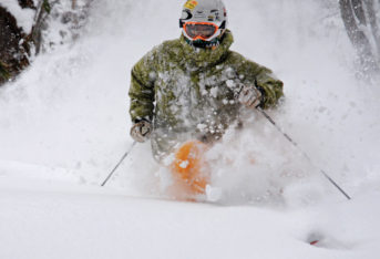 Powder skiing Niseko