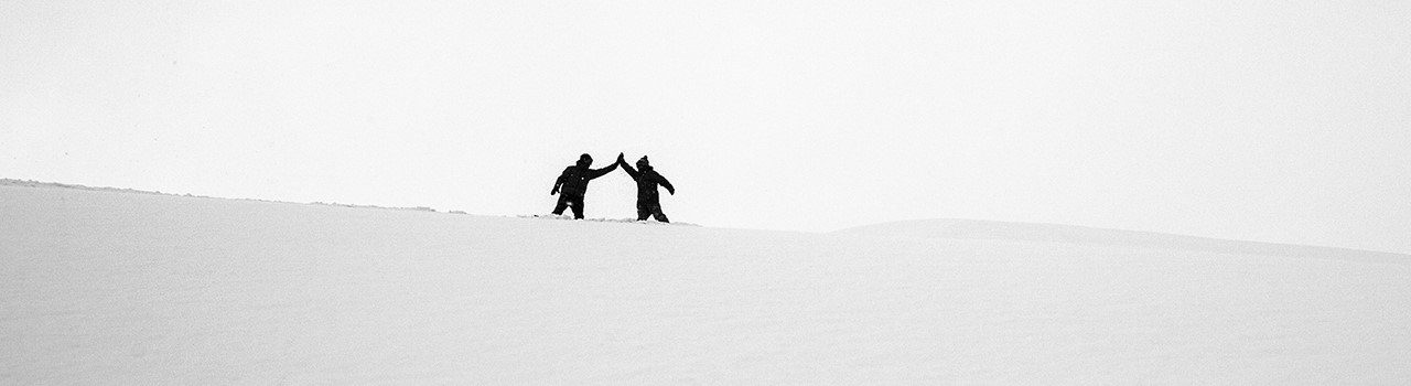 Hidde Hageman Black And White High Five Winter Snow