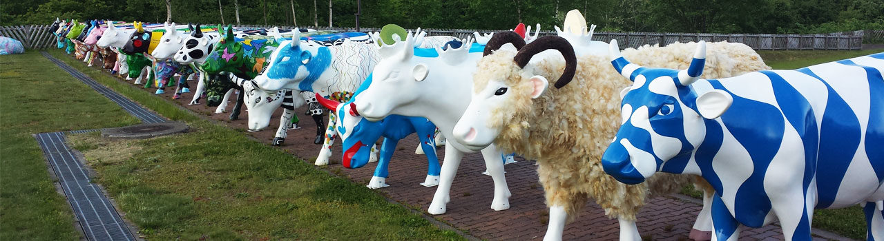Cow Parade Niseko herd