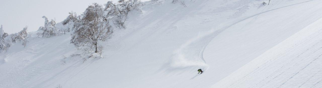 Snowboarding Niseko powder