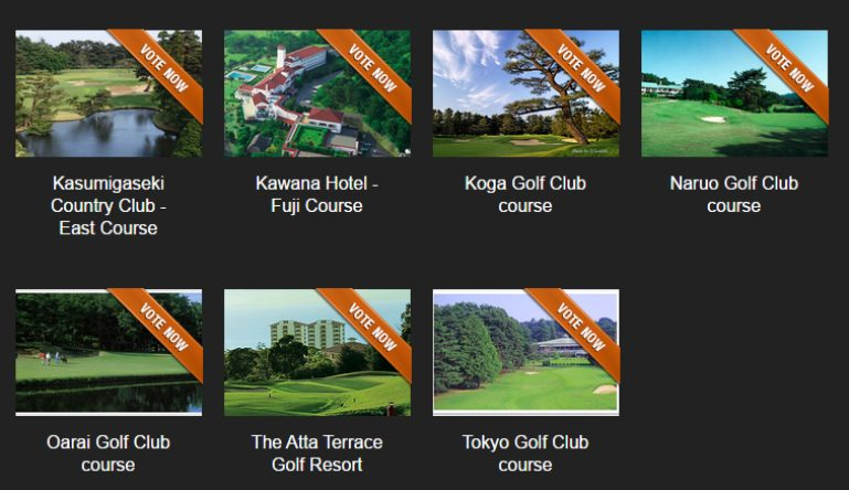 Japan's best golf course nominees