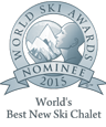 Nominated for World's Best Ski Chalet at the World Ski Awards 2015