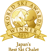 Winner of Japan's Best Ski Chalet at the World Ski Awards 2017