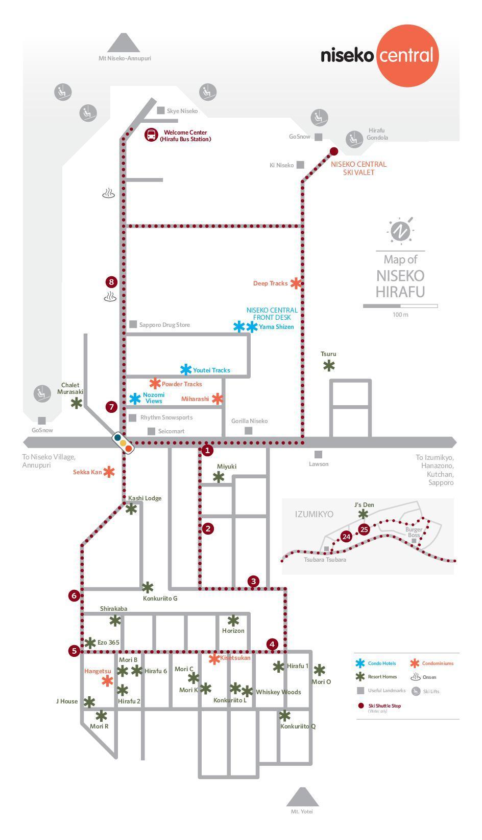 2018 Niseko Central Properties Map En